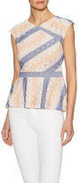 BCBGMAXAZRIA Heidy Colorblock Stripe Top