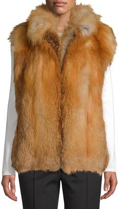 Wolfie Fur Made for Generation Red Fox Fur Premium Zip Vest