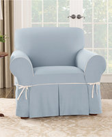 Sure Fit Cotton Canvas One Piece Chair Slipcover Bedding