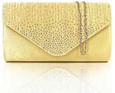 D.jiani® Diamonte Envelope Clutch Shoulder Bag Purse Womens Fashion - 11 Colours