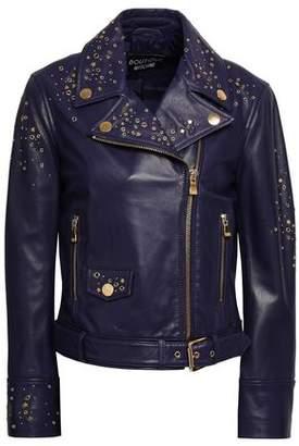 Moschino Embellished Leather Biker Jacket