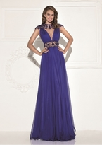 Tarik Ediz Beaded Long Dress 92803