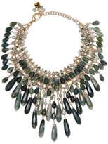 Rosantica Rifugio Gold-tone Agate Necklace - Green