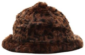 Kangol Leopard Print Faux Fur Hat