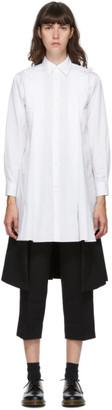 Comme des Garçons Comme des Garçons White Split Shirt Dress