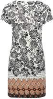 M&Co Petite floral border shift dress