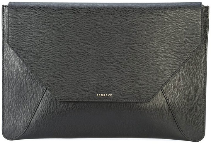 Senreve Leather Envelope Laptop Sleeve