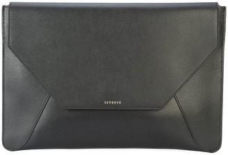Senreve Leather Envelope Laptop Sleeve