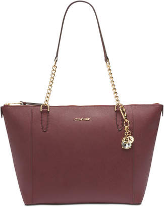 Calvin Klein Marybelle Leather Tote