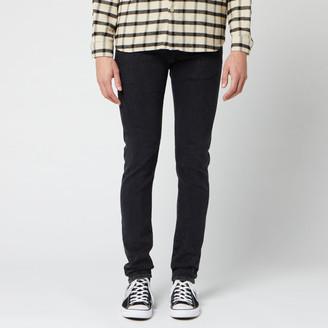 Edwin Men's ED-85 Slim Tapered Drop Crotch Ayano Black Denim Jeans