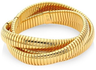 Bagutta Via 18K Yellow Gold Wrap Around Bangle