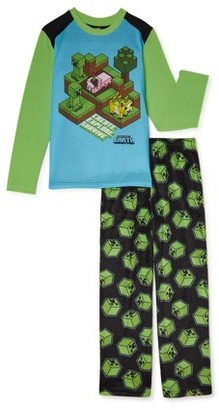 Minecraft Boys Long Sleeve Pajama Set, 2-Piece, Sizes 4-16