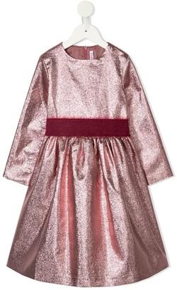 Il Gufo Metallized Bow-Detail Dress