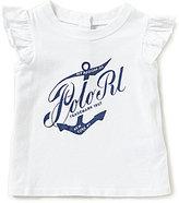 Ralph Lauren Baby Girls 3-24 Months Heritage-Inspired Flutter-Sleeve Tee