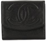 Chanel Pre Owned CC stitch bifold wallet