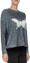 The Kooples Sweet Fleece Lace-Inset Sweatshirt