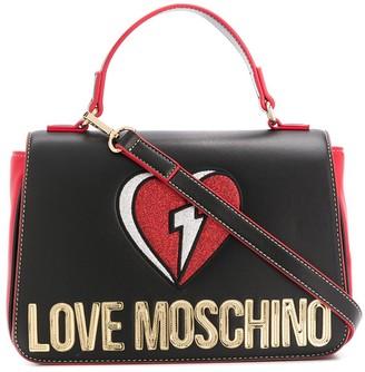 Love Moschino Glitter Heart-embroidered tote