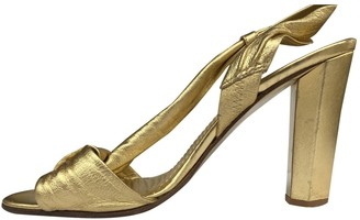 Diane von Furstenberg Gold Leather Sandals