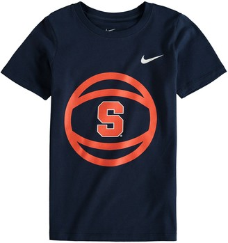 Nike Preschool Navy Syracuse Orange Basketball and Logo T-Shirt