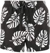 Dolce & Gabbana palm print swim shorts