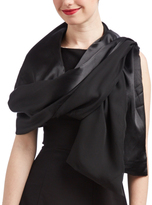 Cejon Black Satin Scarf