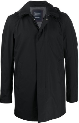 Herno Detachable-Hood Rain Coat