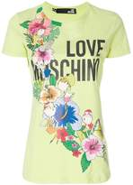 Love Moschino floral logo patch T-shirt