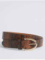 M&S Collection Faux Leather Hip Belt