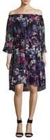 Rachel Roy Off The Shoulder Floral Burnout Dress