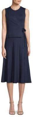 Yigal Azrouel Wrap-Front Pleated Dress