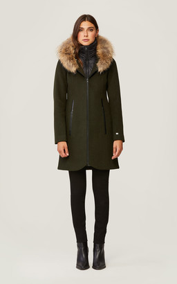 Soia & Kyo CHARLENA slim-fit wool coat with removable natural fur