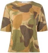 YMC camouflage-print cotton T-shirt