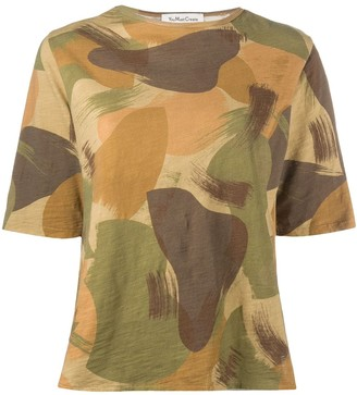 YMC camouflage-print cotton T-shirt