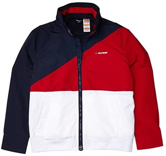Tommy Hilfiger Adaptive Color-Block Yachting Jacket (Surf the Web/Navy Blazer) Men's Clothing
