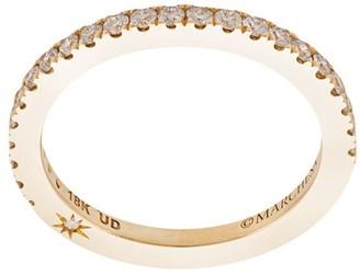 Marchesa 18kt Yellow Gold Diamond Wedding Band