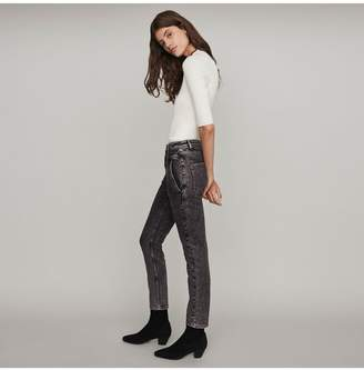 Maje High-Rise Faded Jeans