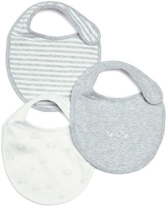 Mamas and Papas Unisex Baby 3 Pack Printed Bibs - Multi