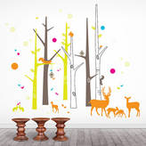 Little Darlings funky Woodland Friends Wall Sticker