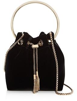 Jimmy Choo Bon Bon Velvet Bucket Bag