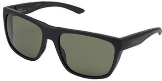 Smith Optics Barra (Matte Black/Chromapop Grey Green Polarized) Athletic Performance Sport Sunglasses