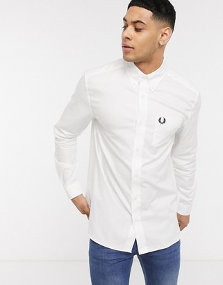Fred Perry oxford shirt in white