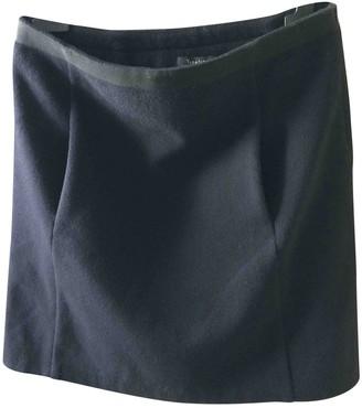 Tara Jarmon Navy Wool Skirt for Women