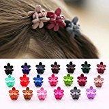 Cuhair(tm) 20pcs Women Girll Hair Bangs Mini Hair Claw Clip Hair Pin Flower Accessories