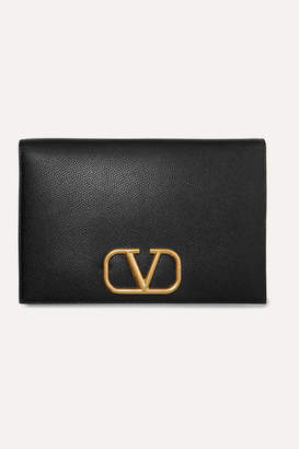 Valentino Garavani Go Logo Textured-leather Pouch