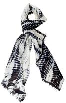 TINA SPARKLE Zebra Tie Dye Scarf