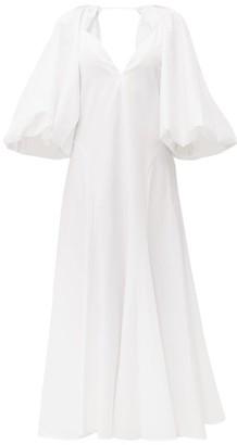 KHAITE Joanne Balloon-sleeve Cotton Maxi Dress - White