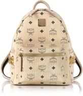 MCM Beige Mini Stark Backpack