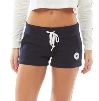 Converse Womens Core Chuck Patch Fleece Shorts Dark Obsidian