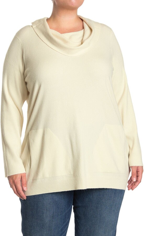 Cyrus Cowl Neck Pocket Pullover Sweater