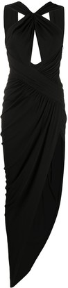 Alexandre Vauthier Front Slit Cut-Out Detail Evening Dress